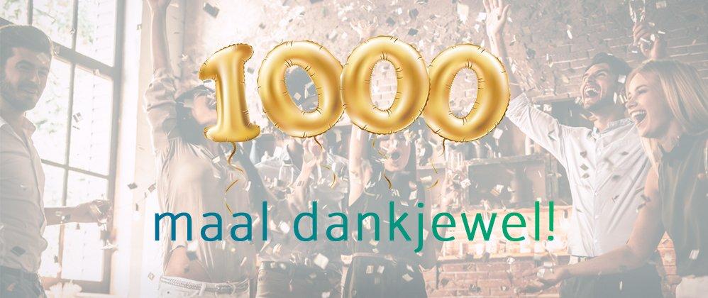 1000 klanten feest