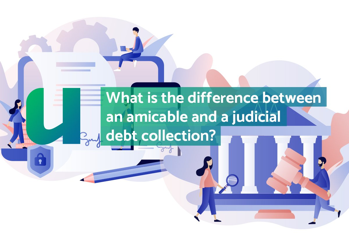 difference between an amicable and a judicial debt collection